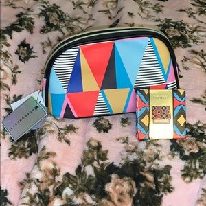 Under One Sky Makeup pouch w/ cosmetic mirror